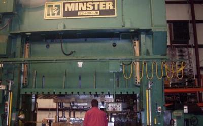 Prensa , marca Minstre de 400 ton